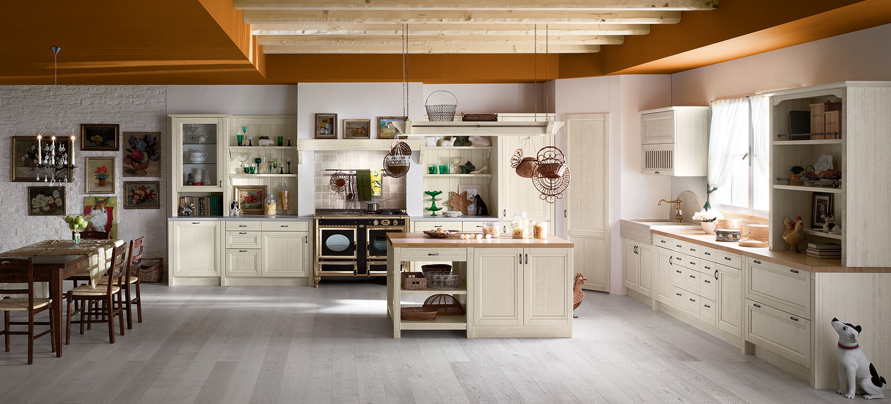 Cucina country con isola | Tempora Country
